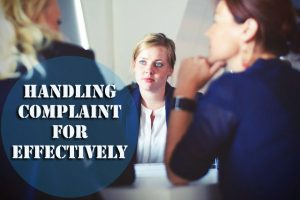 Handling Complaint for Effectively
