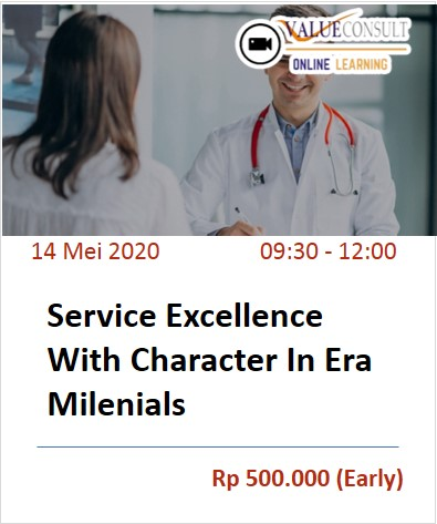 Service Excellence With Character In Era Milenials