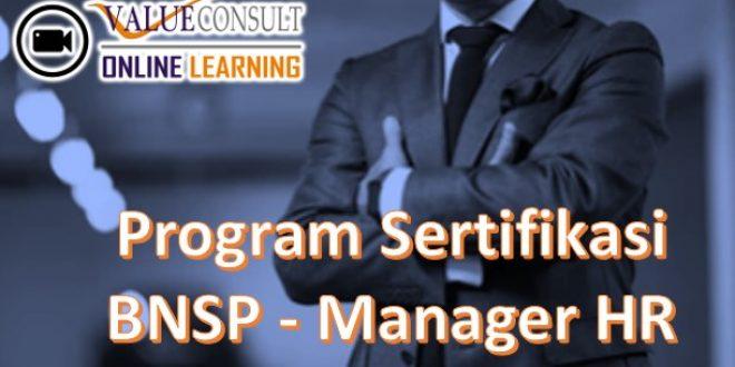 Online Training : Training PROGRAM SERTIFIKASI BNSP : SUPERVISOR HR