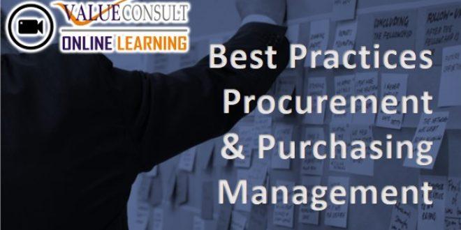 Online Training : Best Practices Procurement & Purchasing Management