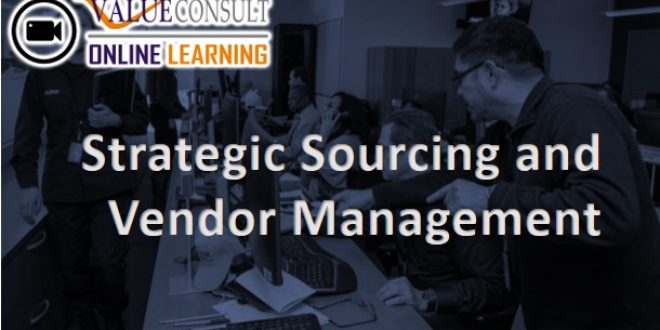 Online Training : Strategic Sourcing and Vendor Management