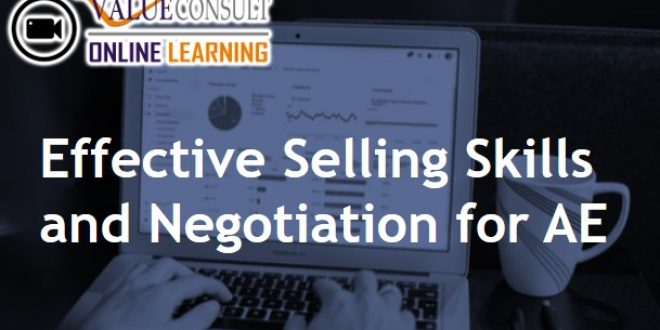 Online Training : Effective Selling Skills and Negotiation for AE