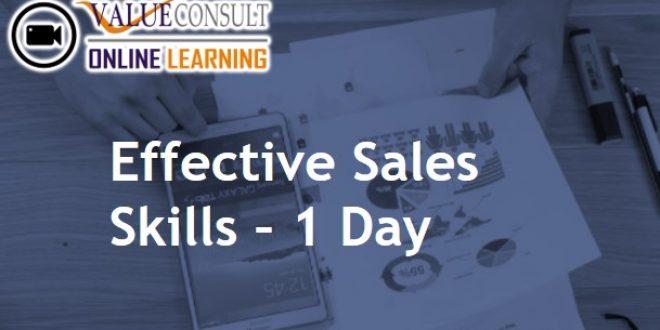 Online Training : Effective Sales Skills – 1 Day