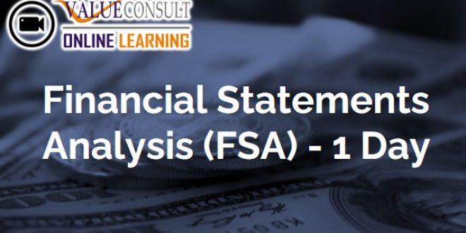 Online Training : Financial Statements Analysis (FSA) – 1 Day