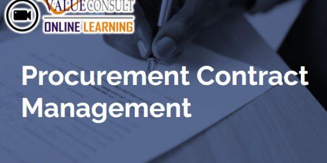 Online Training : Procurement Contract Management